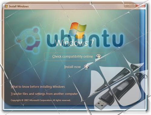 Cl� USB Bootable WIndows seven et Ubuntu