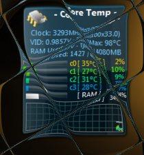 Core temp Widget
