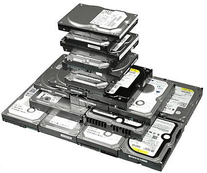 Nombreux disques durs