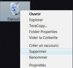 Corbeille Windows VISTA