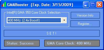 GMABooster overclocker pc portable