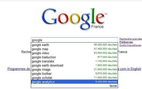 google résultat