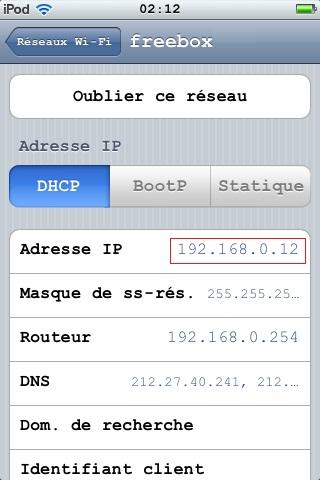 Ip wifi réseau