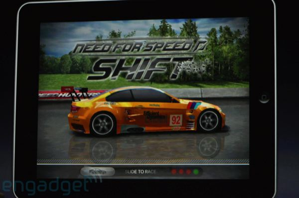 Need For Speed sur Ipad