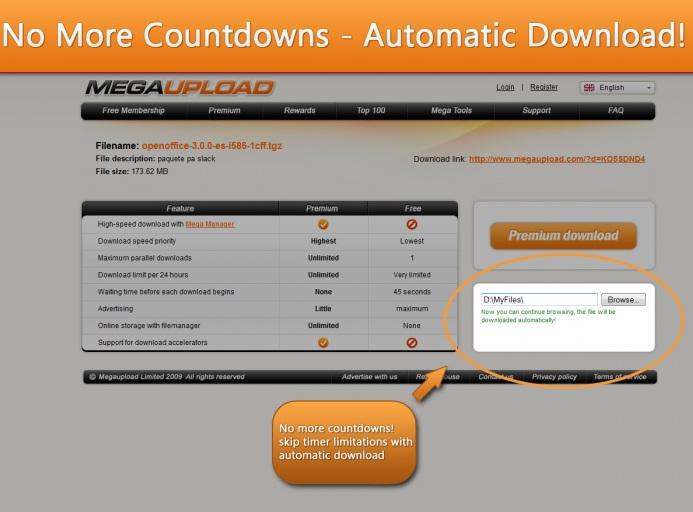 Megaupload download