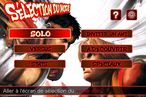 Menus Iphone Street Fighter 4