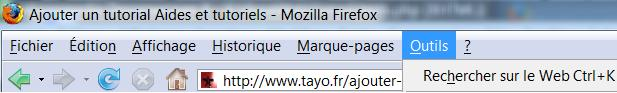 Outils Firefox