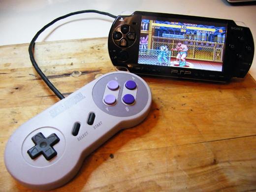 PSP Snes manette