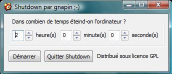 Logiciel pour éteindre PC Shutdown