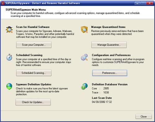 عملاق مكافحة التجسس AntiSpyware Professional