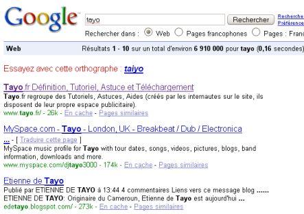Tayo sur google