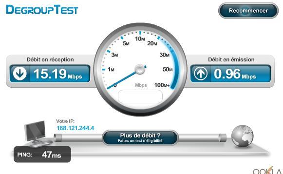 Test bande passante