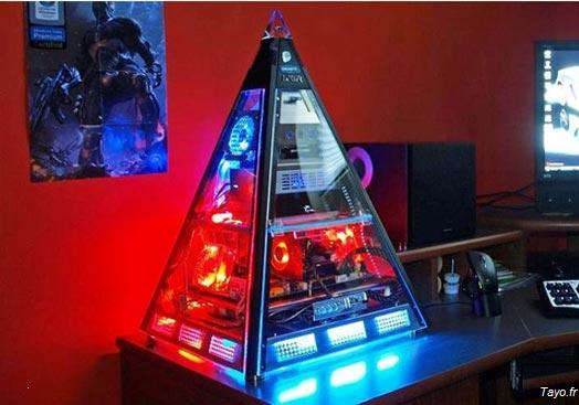 Boîtier pc pyramide