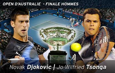 Tsonga défaite finale Melbourne 2008 Tennis