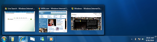 Windows 7 superbar